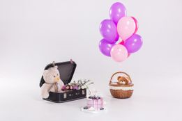 birthday-cake-teddy-bear-vintage-suitecase-balloons-isolated-white-bac